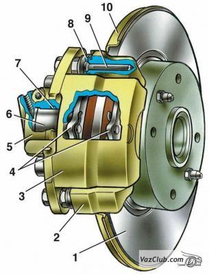 замена переднего тормозного цилиндра ваз 2114