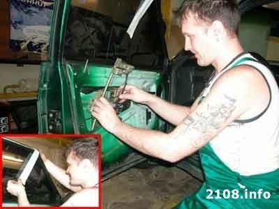 как крепить обшивку двери в ваз 2108