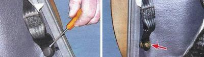 замена защелки ремней безопасности ваз 2114