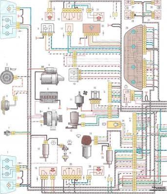 схема блока управления моторедуктора ваз 2112