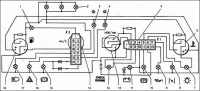 комбинация приборов ваз 2110 vdo 2110 3801010 схема