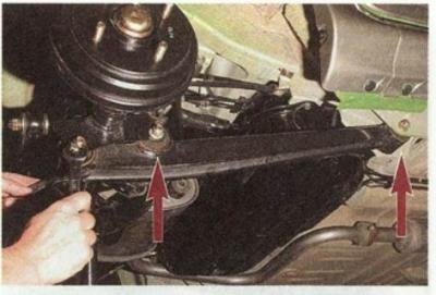 как поменять рычаг задней подвески на дэу матиз