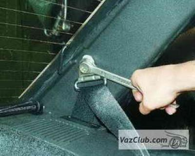 как поставить ремни безопасности на ваз 2107