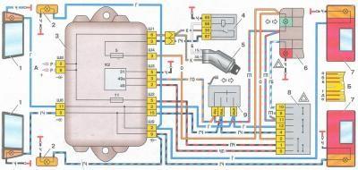 схема электропроводки и цвета ваз 21093 инжектор