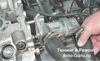 замена термостата ваз 21124 16 клапанов видео